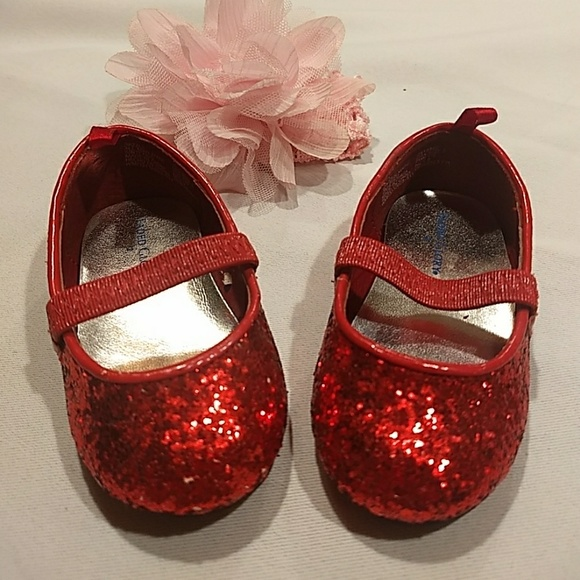 Faded Glory Shoes | Infant Red Sparkle
